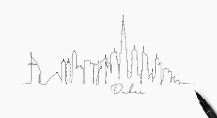 Pen line silhouette dubai