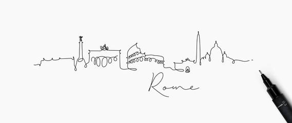 Pen line silhouette rome