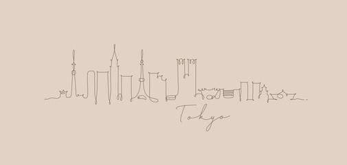 Pen line silhouette tokyo beige