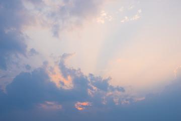 Landscape nature blue sky,evening time,beautiful