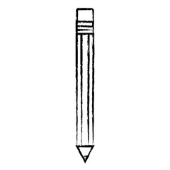 sketch of pencil utensil icon over white background, vector illustration