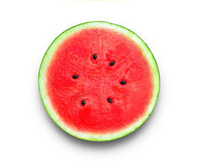 watermelon with chadow on white background