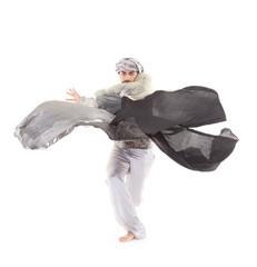 Male dancer in oriental costume.
