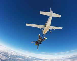 Skydiving tandem jump