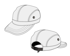 Illustration of baseball cap (headgear) / gray