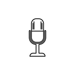 microphone icon. Element of simple icon for websites, web design, mobile app, info graphics. Thin line icon for website design and development, app development