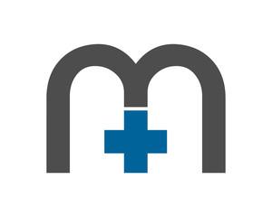 initial M plus typography typeface typeset logotype alphabet image vector icon