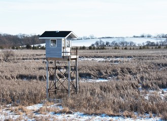 Deer Stand in Winter