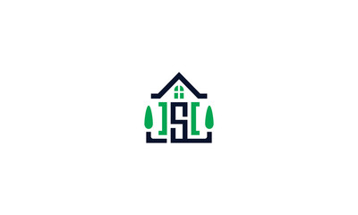private buildings, houses, bungalows, villas, emblem symbol icon vector logo
