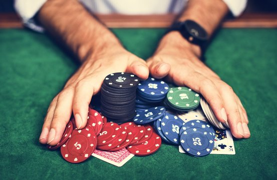 Diverse adults gambling shoot