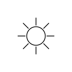 the sun icon. Element of simple icon for websites, web design, mobile app, info graphics. Thin line icon for website design and development, app development