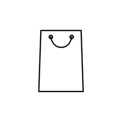 shopping bag icon. Element of simple icon for websites, web design, mobile app, info graphics. Thin line icon for website design and development, app development
