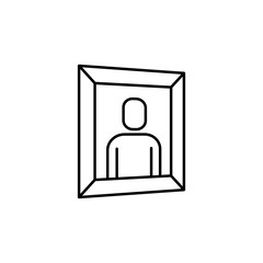 picture of a man icon. Element of simple icon for websites, web design, mobile app, info graphics. Thin line icon for website design and development, app development