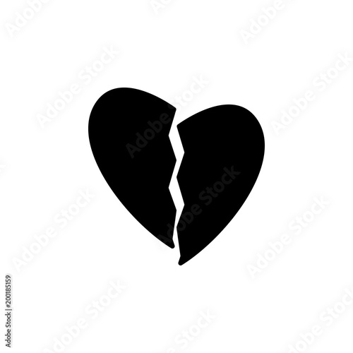 Broken Heart Icon Element Of Simple Icon For Websites Web Design