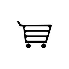 shopping trolley icon. Element of simple icon for websites, web design, mobile app, info graphics. Signs and symbols collection icon for design and development