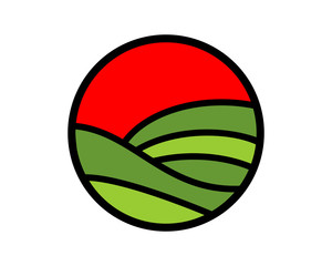 circle field harvest agriculture image vector icon logo symbol