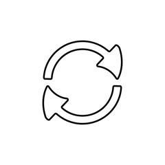 circular arrows icon. Element of simple icon for websites, web design, mobile app, info graphics. Thin line icon for website design and development, app development