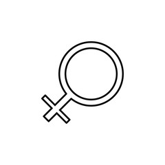 sign of a woman icon. Element of simple icon for websites, web design, mobile app, info graphics. Thin line icon for website design and development, app development