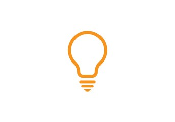 bulb ilustration logo vector Wall mural