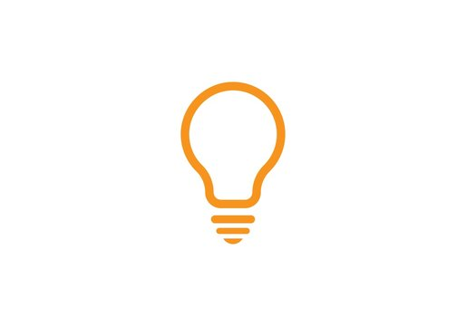 bulb ilustration logo vector