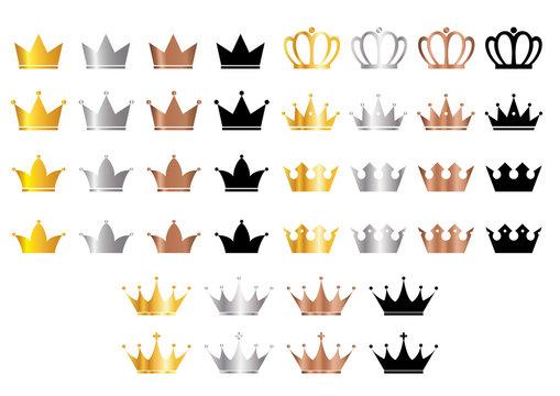 王冠のイラストセット