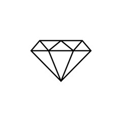 diamond icon. Element of simple icon for websites, web design, mobile app, info graphics. Thin line icon for website design and development, app development