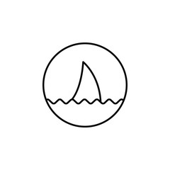 sign dangerous shark icon. Element of simple icon for websites, web design, mobile app, info graphics. Thin line icon for website design and development, app development