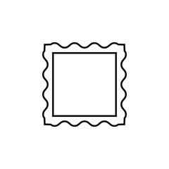 picture frame icon. Element of simple icon for websites, web design, mobile app, info graphics. Thin line icon for website design and development, app development