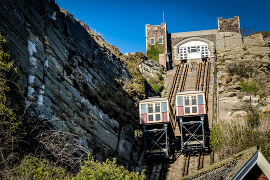 East Hill Cliff Railway or lift is a funicular railway located in the english town of Hastings in Sussex. A funicular is cable car operated by cable with ascending and descending cars counterbalanced