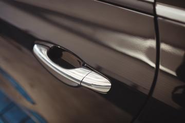 Close-up of luxury car
