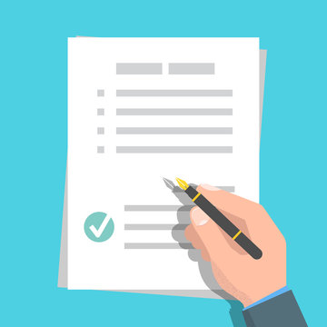 Checklist, Claim form concept. Vector illustration in flat style.