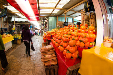 Scenes of a mexican indigenous market, Chiapas, Mexico.