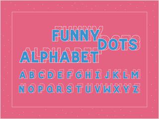 Funny dots bold font. Vector alphabet