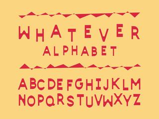 Whatever font. Vector alphabet