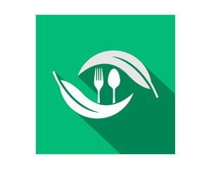 spoon leaf harvest agriculture farmer image vector logo symbol icon