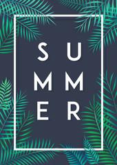 summer poster tropical leaf
