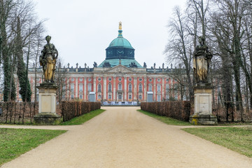 Front of The New Palace ( Neues Palais) in Potsdam, Germany, Europe.