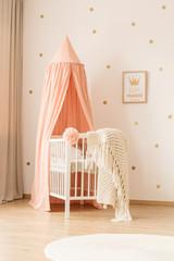 Pink kid's bedroom interior