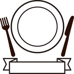 皿とナイフ、フォーク