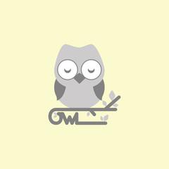 Owl Vector Template Design Illustration