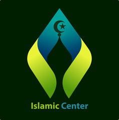 Vector abstract, islamic center symbol