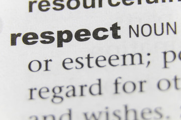 The Word Respect Close Up