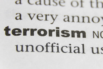 The Word Terrorism Close Up