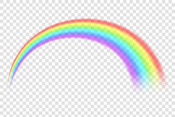 Creative vector illustration of rainbows in different shape isolated on transparent background. Fantasy art design. Spectrum pattern. Abstract concept graphic element. Gay, LGBT, homosexual symbols.