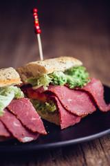 Pastrami Sandwich Nahaufnahme