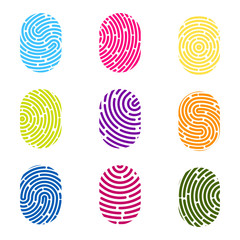 Creative vector illustration of fingerprint. Art design finger print. Security crime sign. Abstract concept graphic element. Thumbprint id
