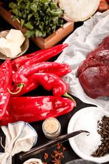 Fleisch mit Paprika No2