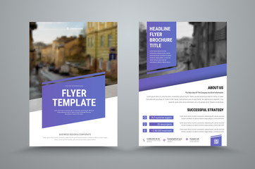 design of a vector brochure with diagonal elements and a place for a photo