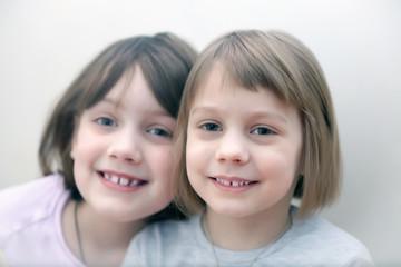 Portrait of two pretty girls