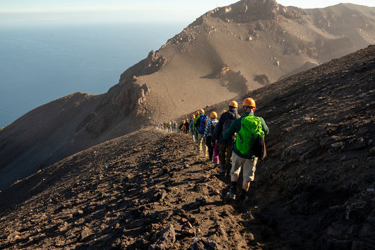 the descent from the Stromboli, Aeolian islands